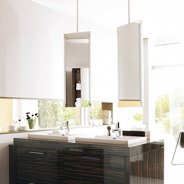 Large Image of Duravit 2nd Floor Mirror With Lighting And 1480mm Ceiling panel