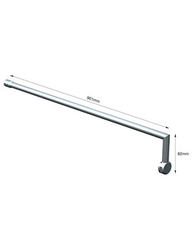 Wetroom Screen Support Bracket - AQ2098