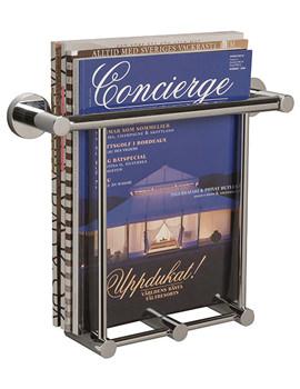 Bond Wall Mounted Chrome Magazine Holder - 8750C