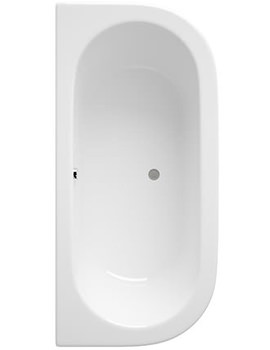 Ludlow 1700x800mm Back To Wall Bath With Panel-BLU002