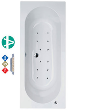 Related Florence Amanzonite Double Ended Bath 1800 x 800mm Airpool System 2