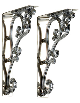 Medium Ornate Bracket Chrome Plated - T32 CHR