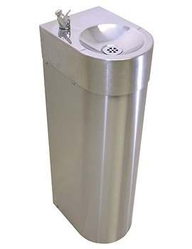 Twyford SS 257 x 350mm Floor Mounted Adult Drinking Fountain