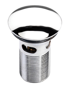 Clicker Chrome Basin Waste Slotted - THC12
