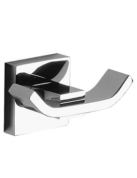 Zeya Double Robe Hook Chrome - ZE022C
