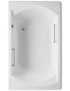 Thalassa Acrylic Bath 1800 x 1000mm With Chrome Grips - 247863001