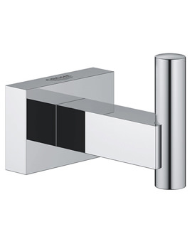 Essentials Cube Chrome Robe Hook