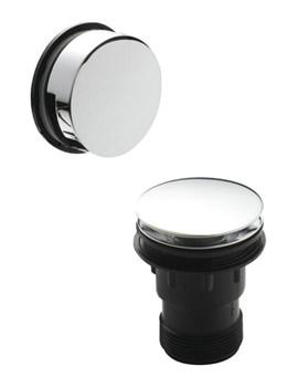 Easyclean Sprung Plug Bath Waste With Minimalistic Overflow
