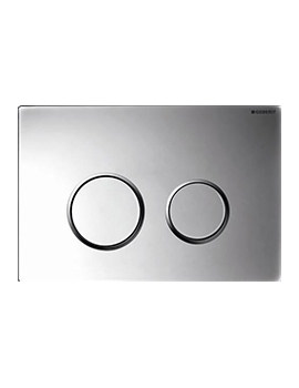 Geberit Sigma20 Plastic Dual Flush Plate Gloss Matt Chrome - 115.882.KH.1