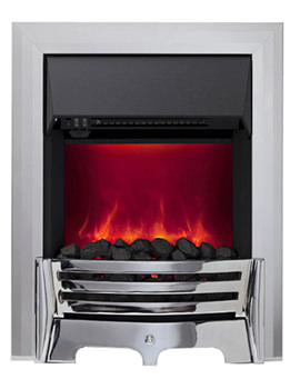 Mayfair Manual Control LED Inset Electric Fire Chrome 59358