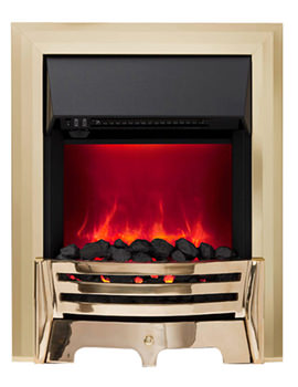 Mayfair Manual Control LED Inset Electric Fire Brass