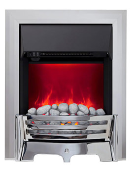 Be Modern Mayfair Manual Control LED Inset Electric Fire Chrome-Pebble