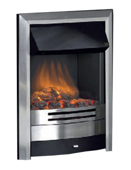 Celsi Ultiflame Contemporary Brushed Steel Electric Fire