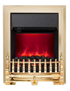 Camberley Manual Control Inset Electric Fire Brass - 59277