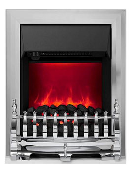 Be Modern Camberley Manual Control LED Inset Electric Fire Chrome 59285
