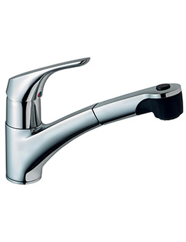 Cerasprint Kitchen Sink Mixer Tap With Pull Out Spout
