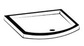 Bow Front Tray