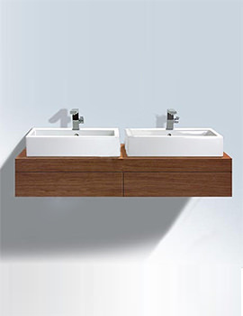 Related Duravit Fogo Console Including Draws 550x1200mm Macassar FO8526