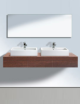 Related Duravit Fogo Console Including Draws 550 x 1800mm Macassar FO8534