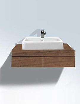 Related Duravit Fogo Console Including Draws 550 x 800mm Macassar FO8521