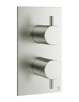 Related Crosswater Mike Pro Brushed Stainless Steel Single Outlet Thermostatic Valve