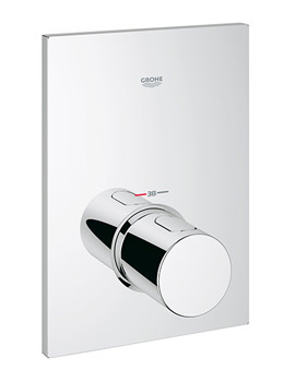 Grohtherm F Trim Thermostatic Concealed Valve With Metal Handle