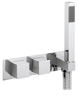 Water Square Thermostatic Shower Valve With Handset - WS1701RC