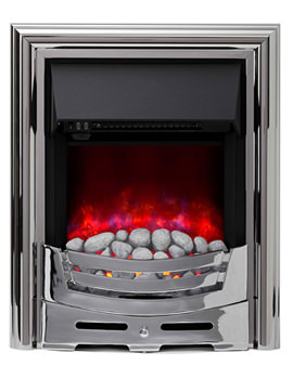 Signum Manual Control LED Inset Electric Fire Chrome - 59439