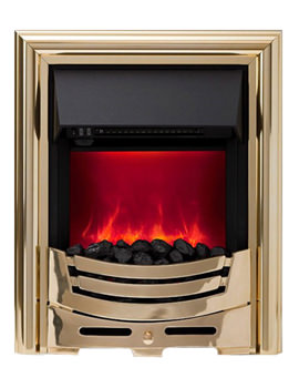 Signum Manual Control LED Inset Electric Fire Brass - 59420