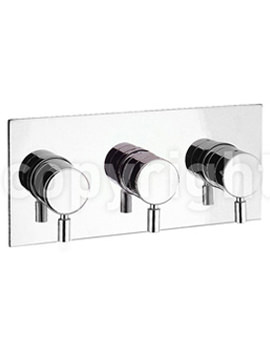 Design Landscape Thermostatic 3 Way Diverter Shower Valve