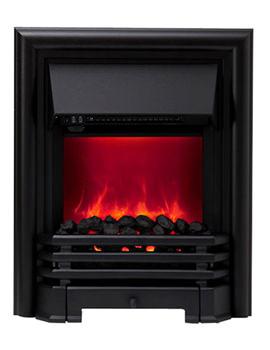 Be Modern Savannah Manual Control LED Inset Electric Fire Black 59374