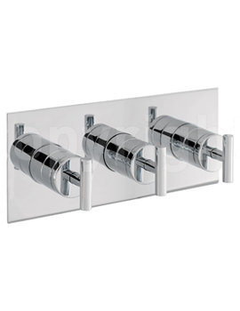 Glide Thermostatic Landscape Shower Valve With 3 Way Diverter