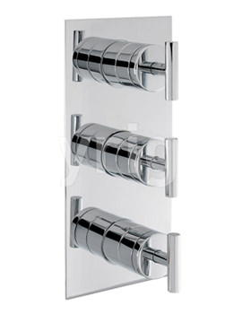 Glide Thermostatic Portrait Shower Valve With 3 Way Diverter