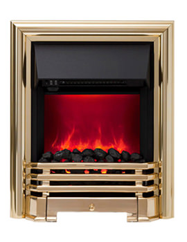 Be Modern Savannah Manual Control LED Inset Electric Fire Brass 59382