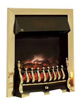 Celsi Ultiflame Traditional Brass Electric Fire