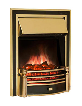 Celsi Ultiflame Rockingham Gold Finish Electric Fire