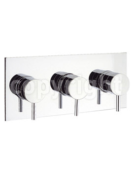 Crosswater Kai Lever Landscape Thermostatic Valve With 3 Way Diverter