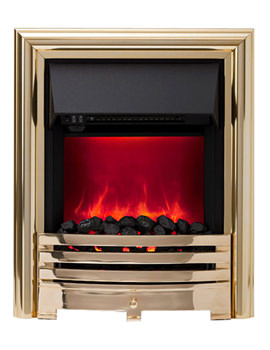 Contessa Manual Control LED Inset Electric Fire Brass 59293
