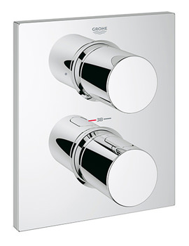 Grohtherm F Trim Thermostatic Valve With Integrated 2 Way Diverter