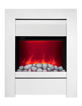Sensation Manual Control LED Inset Electric Fire Chrome-Pebble - 59390
