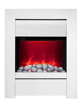 Sensation Manual Control LED Inset Electric Fire Chrome-Pebble - 59390