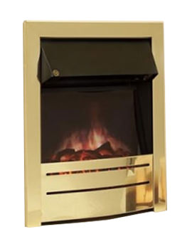 Celsi Ultiflame Essence Satin Brass Electric Fire
