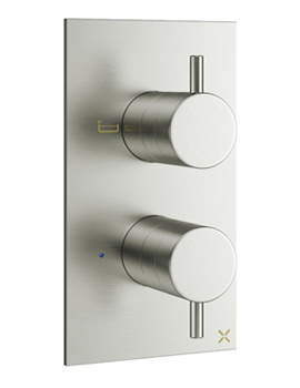 Related Crosswater Mike Pro Brushed Steel 2 Outlet Thermostatic Bath Shower Valve