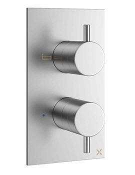Crosswater Mike Pro Brushed Chrome 2 Outlet Thermostatic Bath Shower Valve