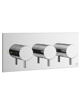 Mike Pro Chrome Landscape Thermostatic Bath Shower Valve