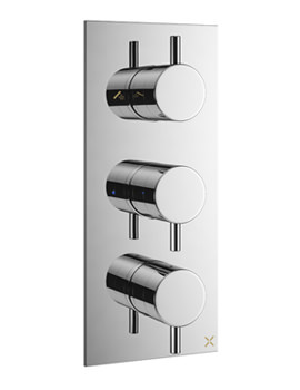 Mike Pro Chrome Portrait Thermostatic Bath Shower Valve