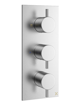 Related Crosswater Mike Pro Brushed Chrome Portrait Thermostatic Shower Valve