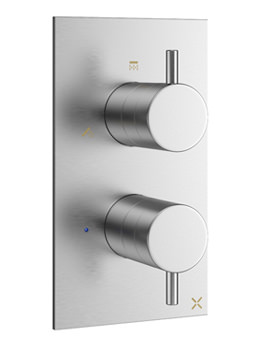 Crosswater Mike Pro Brushed Chrome 3 Outlet Thermostatic Bath Shower Valve