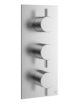Related Crosswater Mike Pro Brushed Chrome Portrait Thermostatic Bath Shower Valve