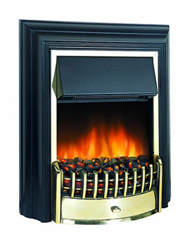 Related Dimplex Cheriton Manual Control Outset Electric Fire Black-Brass CHT20